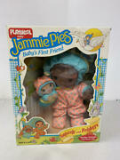 1986 Playskool Jammie Pies African American Snuzzle And Friskers Doll Set Sealed