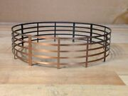 Antique Vintage Copper Plated Mcm Pull Down Light Fence Cage Spacer Lamp Part