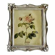Vintage Picture Frame 8x10 Antique Photo Frame Table Top Display And Silver