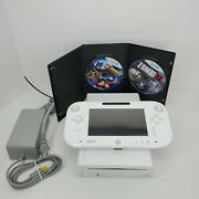 Nintendo Wii U Wup-10102 8 Gb White Console Gamepad 2 Games Tested