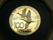 1976 Trinidad And Tobaco 100 Dollars Proof Gold Coin Together We Aspire Achieve