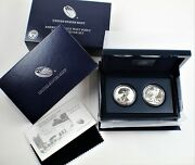 2013-w 1 American Silver Eagle West Point 2 Coin Proof Set Ase Box + Coa B1652