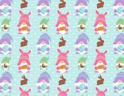 Unit Of 5 And 10 Yard Easter Gnomes Printed Fabric By The Yard