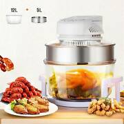 17l Glass Air Fryer Infrared Halogen Convection Oven Roaster Health 360anddeg Heating