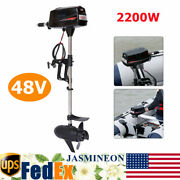 48v 2200w Electric Brushless Outboard Motor Inflatable Fish Boat Engine New Usa