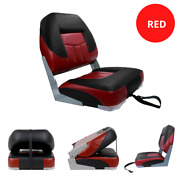 Low Back Boat Seat Fold Down Fishing Pontoon Replacement Boat Seats Folding Red