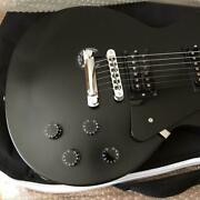 Gibson Les Paul Studio Faded And03960s Satin Ebony Black Electric Guitar Used