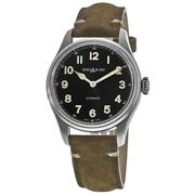 New 1858 Collection Automatic Black Dial Leather Menand039s Watch 119907
