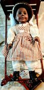 American Girl Doll Addy Pleasant Co In Her Birthday Outfit W/rope Bed And 4 Books