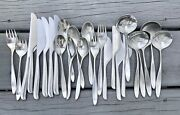 26pcs Lauffer Design 2 Stainless Knives Forks Spoons Norway Mid Mod Euc