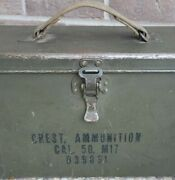 Vintage Wwii Ammo Box.andnbspdesignated As Andldquochest Ammunition Cal. 50 M17 D39091andrdquo