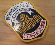 Metropolitan Police District Of Columbia 3d Routed Patch Sign Plaque Custom