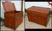 Antique Primitive Rustic Pine Dry Sink Chest W Lift Top Lid Board Cover Closure
