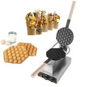 Electric Non-stick Ice Cream Waffle Cone Baker Maker Machine With Timer 110v