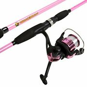 Womens Fishing Pole Wakeman Strike Series Spinning Rod And Reel Combo Hot Pink