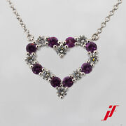 And Co.necklace 950 Platinum Pink Sapphire Diamonds 16 1/2in Chain