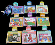 12 Twelve Leap Frog Baby Little Touch Leap Pad Books Cartridges Reading Toys