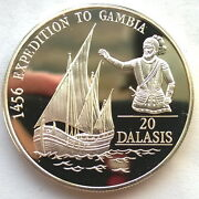 Gambia 1993 Henry 20 Dalasi Silver Coin,proof