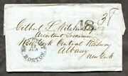 P995 - Gb Liverpool 1857 Double Rate Wrapper / Cover To Albany Ny Usa ✉