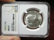 1964-d Kennedy Half Dollar - Ngc Ms67 - Mint State Certified Graded Coin Ms 67