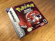 Pokemon Ruby Version - Gameboy Advance Boxed 💯 Authentic American Game Usa
