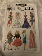 1980's Simplicity 9334 Clothing Pattern For 11-1/2 Barbie/maxie Fashion Dolls