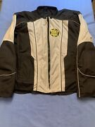 Menand039s Gwrra Goldwing Motorcycle Riding Jacket With Padded Armor 4xl Black/silver