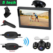 Wireless Rear View Car Camera Screen 5 Monitor System +cigarette Lighter Switch