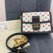 Louis Vuitton Game On Dauphine Mm In White Monogram Canvas M57463 Bag