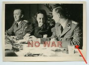 Wwii Original German War Photo Elite Division Security Service Officers And Woman.