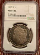 1879-s Morgan Dollar Ngc Ms66pl Condition Rarity Rose Gold Toned Beauty