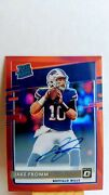 2020 Donruss Optic Rated Rookie Red 43/50 On Card Autograph - Jake Fromm 155