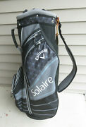Near Mint Callaway Solaire Ladies Golf Bag 6 Way Dividers And Rain Cover