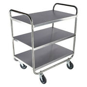 Zoro Select 60ef11 Stainless Steel Utility Cart, No Handle, 500 Lb