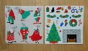 Mrs Grossmanand039s 2 Large Sheets Vintage Christmas Stickers Mice And Xmas Decorations