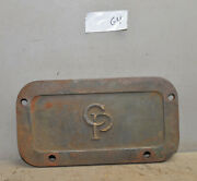 Cp Central Pneumatic Machine Cover Plate Cast Iron Industrial Steampunk G4
