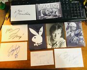 Famous People Sports Actors Actress Mixed Signed Autograph Auto Index Card B