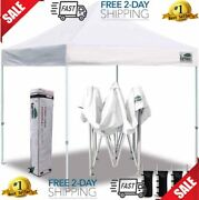 Eurmax 10'x10' Ez Pop Up Canopy Tent Commercial Instant Canopies With Heavy D...
