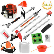 52cc 5 In 1 Petrol Hedge Trimmer Grass Strimmer Pruner Chainsaw Brush Cutter Us