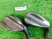 Cleveland Rtx Zipcore Black 54/58 Sand/lob Wedge Set Mid Spinner Tour Steel