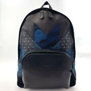 Coach Backpack Day Pack 68997 Patchwork Leather Black Mens