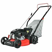 Push Lawn Mower Gas Powered - 17 Inch 127cc 4-stroke Engine 5 Hight Positions
