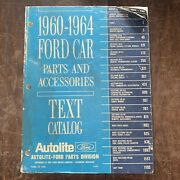 Autolite 1960-1964 Ford Car Parts And Accessories Catalogs