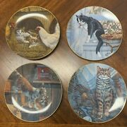 Lowell Davis Cat Tales Collector Plates Full Set Of 4 Limited Edition Vintage
