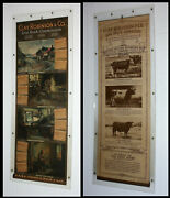 1920 Clay Robinson Live Stock Yard Commission Antique 2side Advertising Calendar