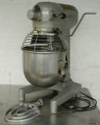 Hobart A200 20qt Commercial Dough Mixer W/ Stainless Bowl Guard And Timer 1ph