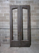 Antique Carved Double Entrance French Doors 52 X 107 Architectural Salvage