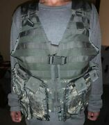 Us Army Acu Molle Fighting Load Carrier Bearing Vest W/ Pouches