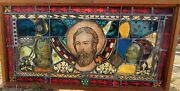 Medieval Stained Glass Collected After Wwii. Placed To Together By An Expert