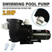 2hp Swimming Pool Pump Motor For Hayward W/strainer 115-230v In/above Ground